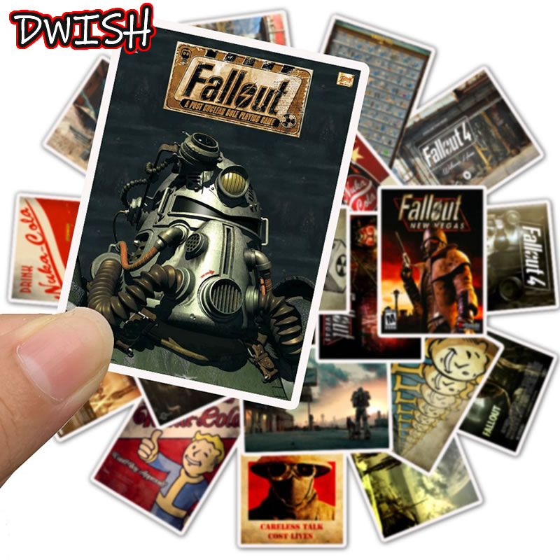 Cool Waterproof Game Fallout 4 Graffiti Stickers Skateboard Suitcase Guitar Laptop Motorcycle Children Funny Sticker Kids Toys