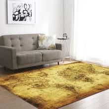 Glorystar 1 шт ретро коврик с принтом карты для гостиной спальни