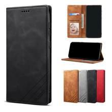 Deri Flip A51 A71 A21S A41 A31A21 A11 M11 kılıf Samsung S20 FE S10 S9 S8 artı A20E A50 a30S Ultra telefon cüzdan kapak