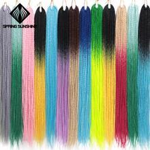 14, 18, 24, 26 дюймов, Сенегальские косички для волос, скрученные волосы, вязанные крючком, закрученные косички, Гавана, мамбо, закрученные косички, синтетические косички, 30 корней