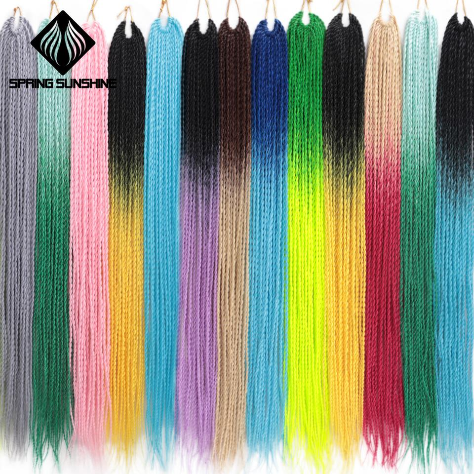 24inch Senegalese Braids Hair Twist Hair Crochet Twist Braids Havana Mambo Twist Braids Synthetic Braiding Hair 30roots