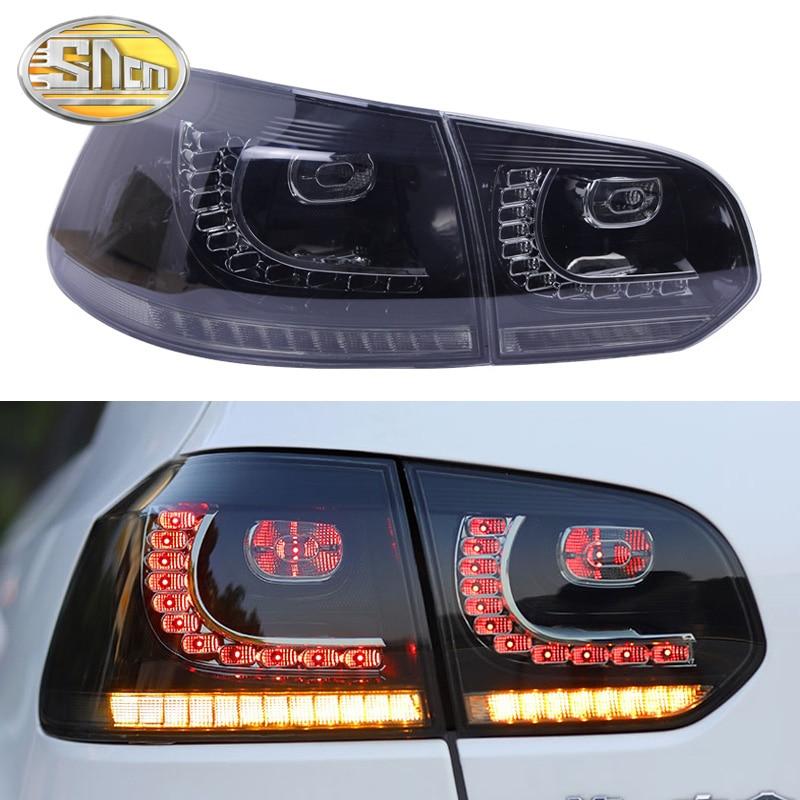 Lámpara antiniebla trasera + luz de freno + marcha atrás + señal de giro dinámica luz LED trasera de coche luz trasera para Volkswagen Golf 6 2009 2013