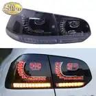 Lámpara antiniebla trasera + luz de freno + marcha atrás + señal de giro dinámica luz LED trasera de coche luz trasera para Volkswagen Golf 6 2009 2013 - 1