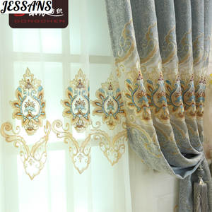 Embroidery Curtain Bedroom Living-Room Hollow European-Style Finished-Product Water-Soluble