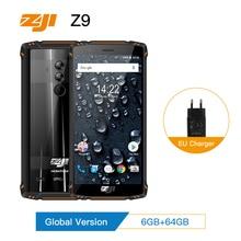 מכירה ZOJI Z9 IP68 Waterproof Smartphone אוקטה Core 5.7 אינץ 6 GB RAM 64 GB ROM 5500 mAh B20 4G FDD LTE B20 מלא להקות נייד טלפון