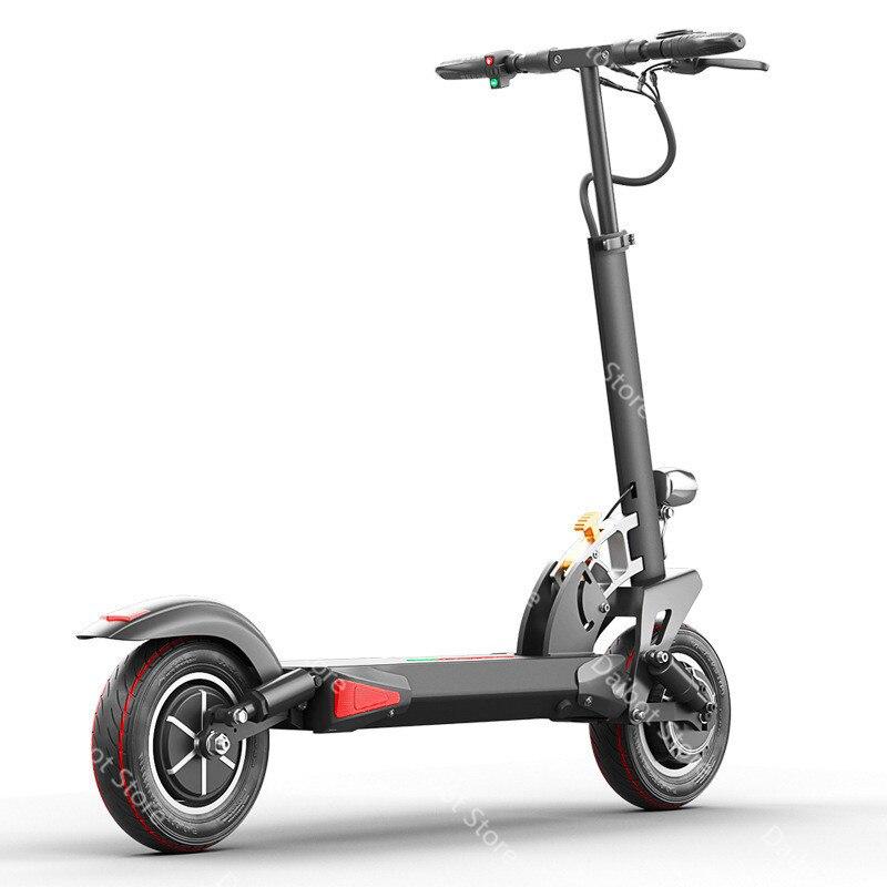 Doppel Stick Elektrische Skateboard Roller Falten Zwei Räder Elektro scooter 10 ''Leistungsstarke Elektrische Roller 1200W 48V 50 KM/H - 3