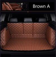 Honda civic 8th 9th 10 세대 6d 모든 날씨 카 스타일링 카펫 러그 플로어 라이너 (2005-) 용 맞춤 트렁크 매트
