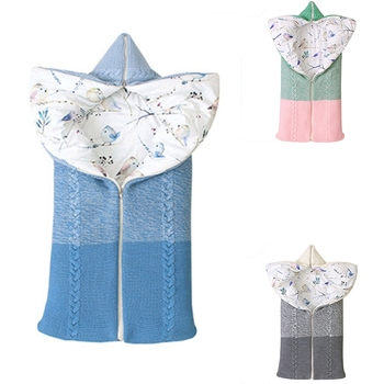 Baby Swaddle Baby Blanket Soft Baby Sleeping Bag Cotton Knitting Envelope Newborn Swaddle Wrap Sleepsacks dile baby sleeping bag soft cotton autumn child sleep suit soft baby sleepsacks dogs clothes autumn winter