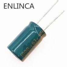 4 ชิ้น/ล็อต H086 63V 1000UF Capacitor Electrolytic อลูมิเนียมขนาด 16*25 1000UF 20%