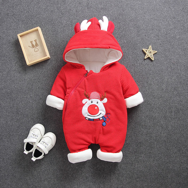 H2a4fbeaeff2b4f8e851c4e6a3d31cabdv 2019 New Russia Baby costume rompers Clothes cold Winter Boy Girl Garment Thicken Warm Comfortable Pure Cotton coat jacket kids