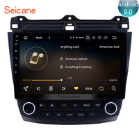 Seicane 10.1 inch GPS Navi Unit Player Android 9.0 IPS 8 Core for 2003 2006 2007 Honda Accord 7 Car Radio Steering Wheel Control