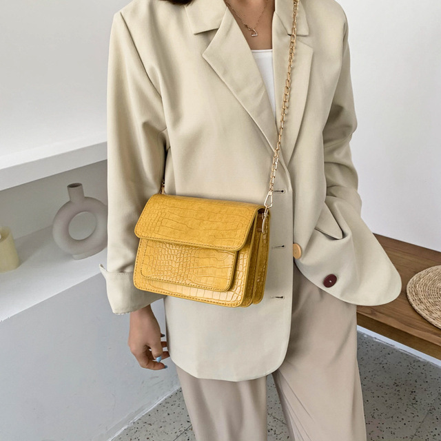 Stone Pattern Pu Leather Crossbody Bags For Women 2020 Small Chain Women Shoulder Bags Brand Designer Travel Hand Bag Purse