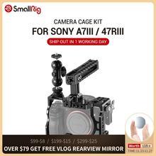 Smallrig a7r3 kit gaiola para câmera, para sony a7m3, a7r iii, câmera/a7 iii, equipamento gaiola com/cabeça de bola para câmera com punho superior 2103