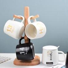 Креативная индивидуальная керамическая чашка с крышкой трендовая