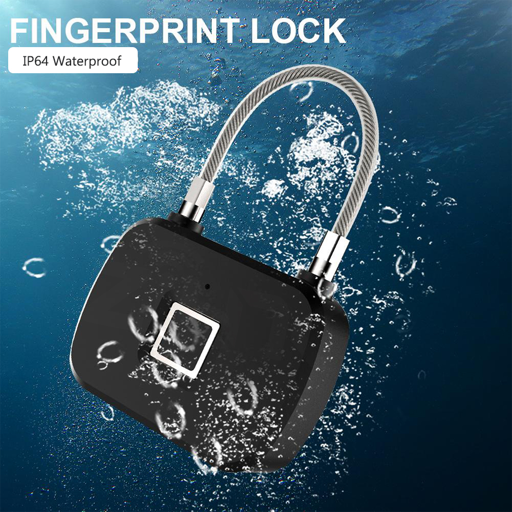 Image 4 - ZILNK Smart Fingerprint Lock Keyless Anti Theft  Security Electric Padlock IP65 Waterproof For Door Bag LuggageElectric Lock   -