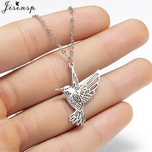 Jisensp – collier Animal Simple en acier inoxydable, colliers et pendentifs en forme d'oiseau colibri, chaîne clavicule, hirondelle