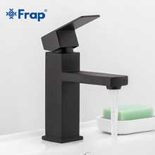 Frap New Square Black Bathroom Faucet Stainless Steel Basin Mixer Bathroom Accessories Tap Bathroom Sink Basin Mixer Tap Y10170