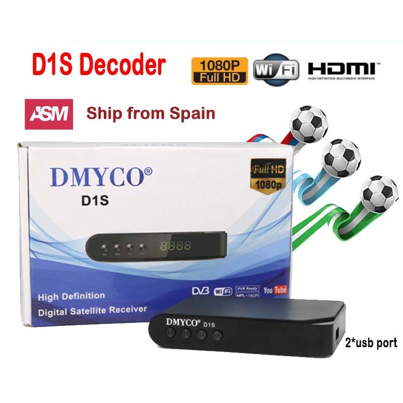 DMYCO D1S Digital Satellite TV Receiver Full HD 1080P HD Receptor D1S Decoder HD DVB-S2 Lnb Support Powervu Youtube Youporn