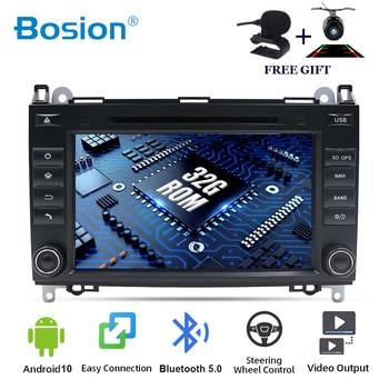 Reproductor multimedia de radio y dvd para coche Mercedes Benz, reproductor con Android 10, 2 din, para Mercedes Benz Sprinter B200 W209 W169 Clase B W245 B170 Vito W639 GPS para coche