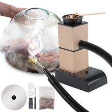 BORUiT ポータブル分子料理喫煙銃食品コールド煙発生器肉バーン Smokehouse 調理バーベキューグリル用の喫煙木材