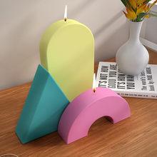 Diy molde de vela móveis decoração ornamentos artesanato aromaterapia vela geométrica polígono molde de silicone vela que faz o molde