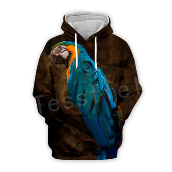 Tessffel Animal Parrot Unisex Colorful Funny NewFashion Tracksuit Harajuku 3DPrint Zipper/Hoodies/Sweatshirt/Jacket/Men/Women 11 1