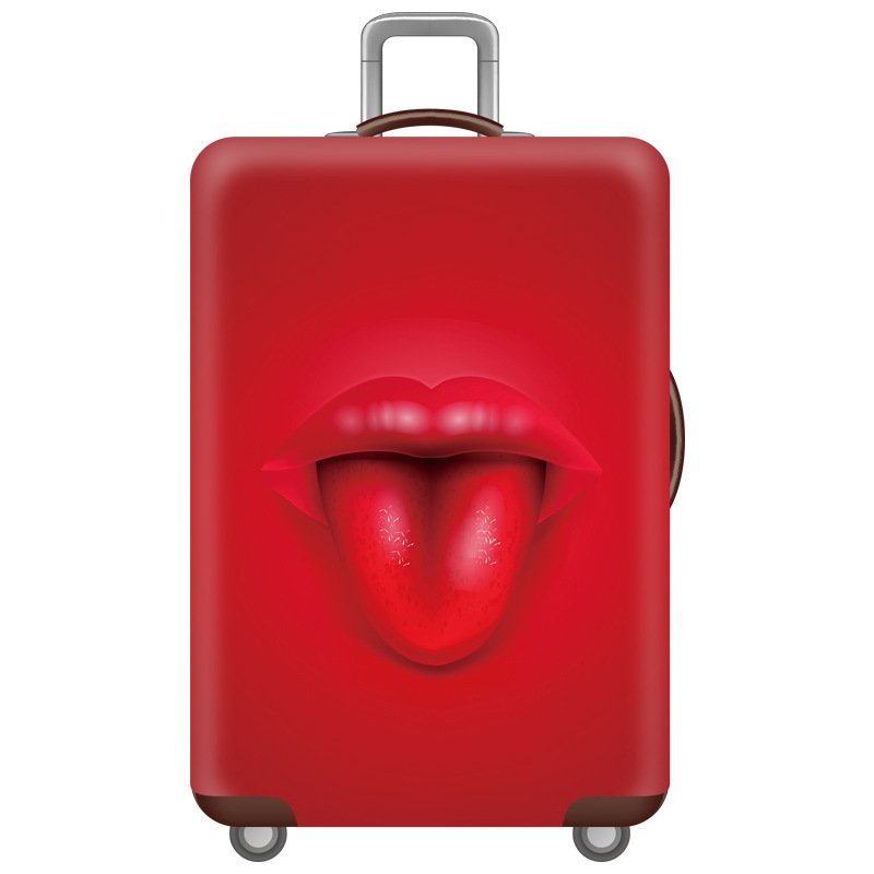 Red Lips Elastic Luggage Protective Cover Trolley Case Suitcase Dust Cover  Suitable For 18/20/22/24/26/28/30/32 Inch