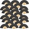 Ручные вентиляторы Шелковый бамбуковый Складной вентилятор Ручной сложенный вентилятор для церкви свадебный подарок  вечерние сувениры  ...