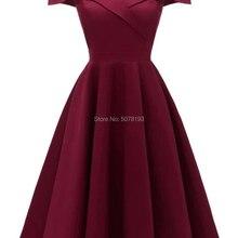 982 милое Горячее предложение романтичное длиной до колена шеи ТРАПЕЦИЕВИДНОЕ платье для выпускного вечера