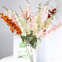 New simulation hyacinth Delphinium flower silk single branch long wedding landscaping