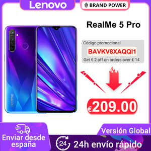 Глобальная версия realme 5 Pro R5 Pro 4 ГБ 128 Гб Смартфон Snapdragon 712AIE 48MP Quad Camera 6,3 ''мобильный телефон VOOC 20 Вт 4035 мАч