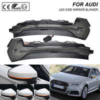 2X fumée flash LED dynamique miroir clignotant lumière clignotant lampe pour Audi A3 8V 2013-2018