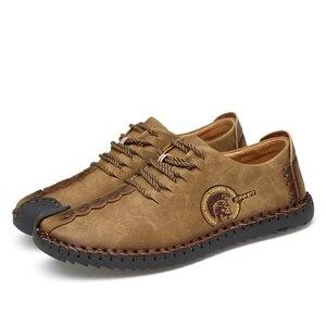 Image 4 - 38 48 נעליים יומיומיות גברים מותג 2019 נוח אופנה נעלי גברים עור #601
