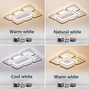 Image 5 - Moderne LED kronleuchter decke für wohnzimmer schlafzimmer plafonnier führte braun aluminium + acryl moderne kronleuchter leuchten