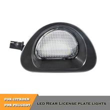 цена на No Error LED rear license number plate lights lamp for CITROEN C1 2005-2013 Peugeot 107 2005-2014 auto accessory