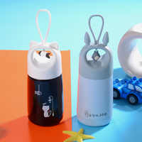 Termo de vacío bonito botella de agua de acero inoxidable taza de agua caliente bouteille isotherme botella de agua vaso termico copo termico