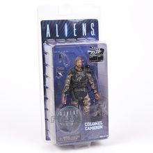 NECA חייזרים קולונל קמרון 7 פעולה איור אוסף דגם צעצוע Figurals