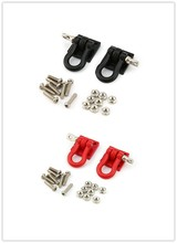 цена на T-power 2pcs 1/10 Metal Hook Shackle Rescue Hook for Traxxas TRX-4 Truck Crawler RC Car Model Spare Parts Accessories