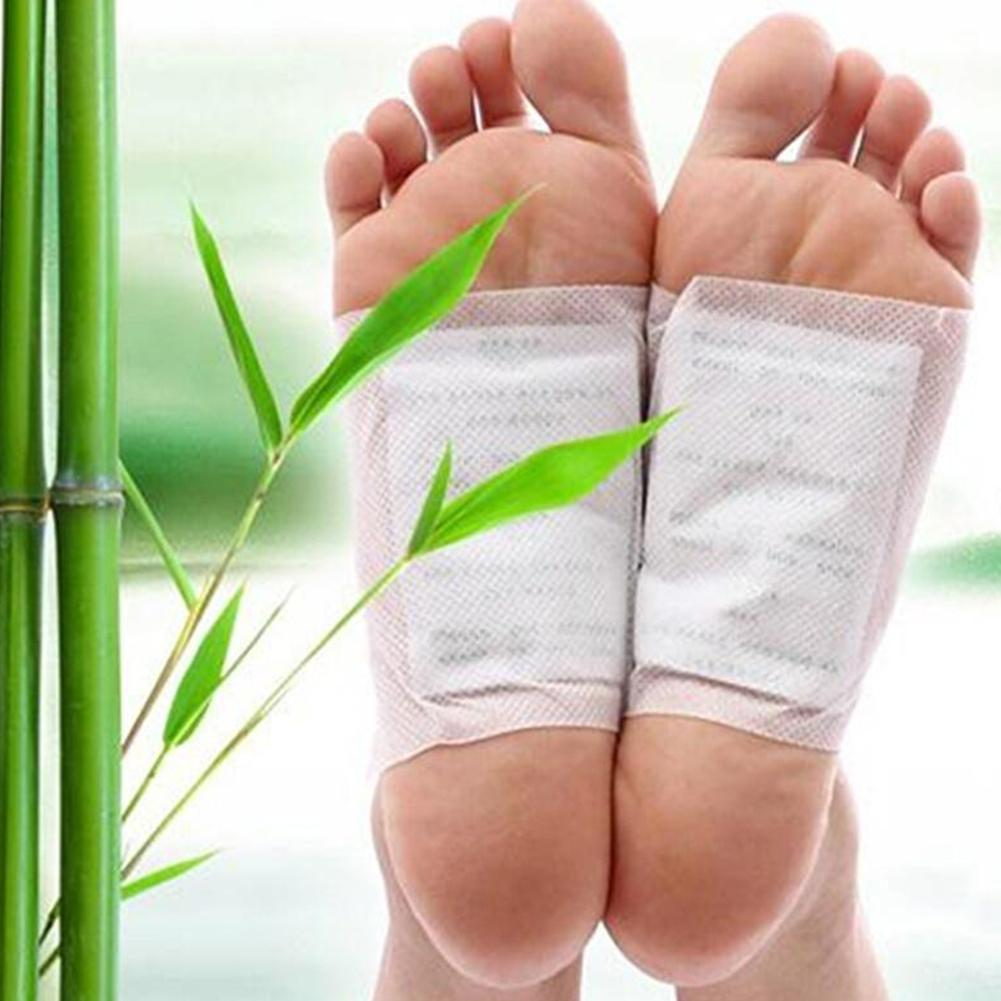 Detox Foot Patches Pads Anti-Swelling Ginger Feet Patch Weight Loss Herb Toxins Pads 20pcs=(10pcs Patches+10pcs Adhesives)