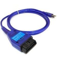 1 pièces Ecu OBD2 USB KKL câble de Diagnostic de voiture pour Fiat FTDI puce voiture Ecu Scanner outil 4 voies commutateur USB Interface