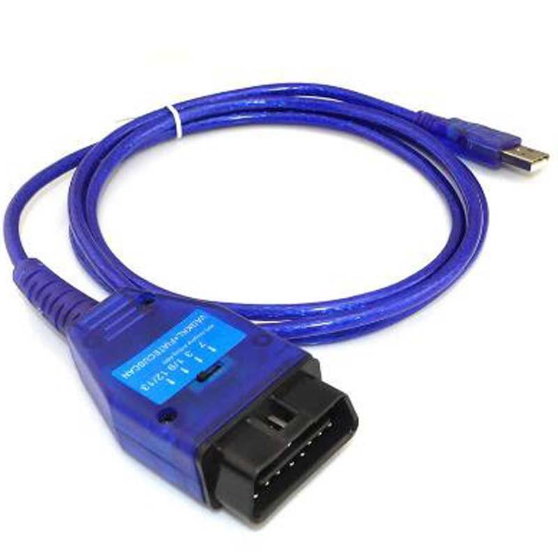 1Pcs Ecu OBD2 USB KKL Car Diagnostic Cable For Fiat FTDI Chip Car Ecu Scanner Tool 4 Way Switch USB Interface