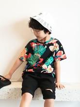 2020 Summer New Korean Style Fashion kid t-shirt Short Sleeve T-Shirt Printed 140cm-170cm Children Clothing children s clothing new summer 2020 fashion children s short sleeved t shirt