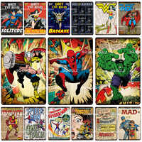 [SQ-DGLZ] Super Hero Tin Sign American Cartoon Wall Decor Metal Crafts Painting Plaques Art Poster