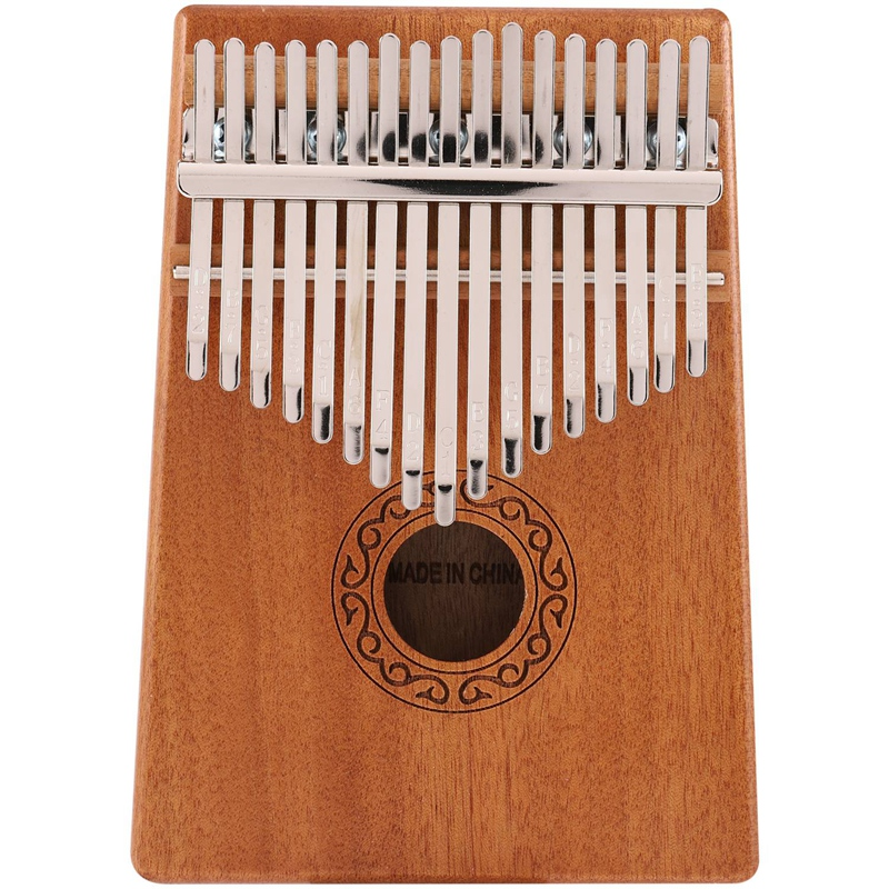 17 Keys Kalimba Thumb Piano Mahogany Solid Wood Musical Toys With Carry Bag Storage Case Tuning Hammer Music Book Stickers