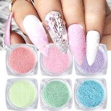6 коробок, блестящий сахарный эффект, блестящий порошок для ногтей, лазерный конфетный пигмент для ногтей, хлопья, пыль, красочный декор для ...