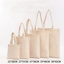 Sac fourre-tout en toile de 6 tailles, sac de Shopping réutilisable en tissu écologique pochette pliable, sacs d'épicerie, bandoulière