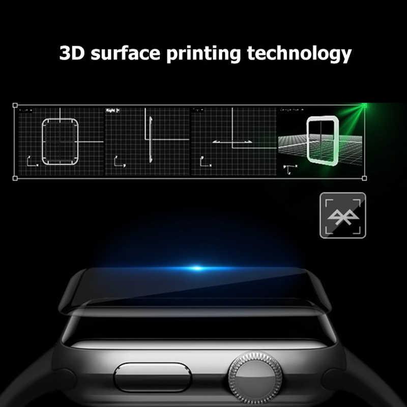 3D منحني كامل هيدروجيل ل أبل ووتش 5 1 2 3 4 واقي للشاشة ل iWatch 5 40 مللي متر 44 مللي متر 42 مللي متر 38 مللي متر طبقة رقيقة واقية لا الزجاج