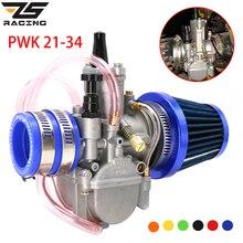 ZS PWK карбюратор для гоночного мотоцикла + адаптер + воздушный фильтр, один комплект для 21, 24, 26, 28, 30, 32, 34 мм, 4T, ход 50cc-250cc Moto
