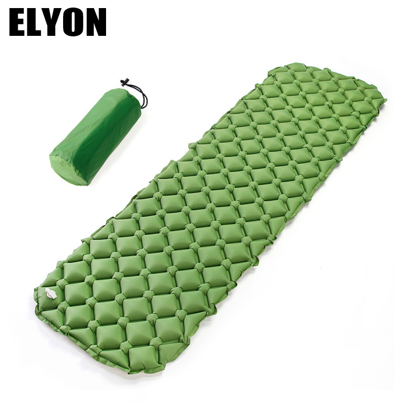 ELYON Camp Mat TPU UltraLight Outdoor Nest Rhombic Portable Field Inflatable Cushion Inflable Air Bed Mattress Soft Sleeping Pad