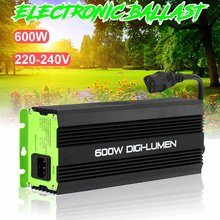 Balanços digitais para plantador de jardim, 600w eu plug, lâmpadas para crescimento hps mh